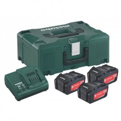 Metabo Accuset 18V 3X4A+Asc3036 Mloc