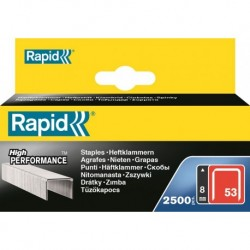 Rapid Niet 53/6mm 2500/Blisterbox