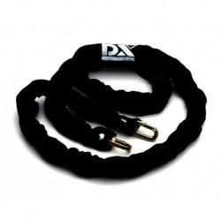 DX Veiligheidsketting 8mm 90cm Hoes Zwart
