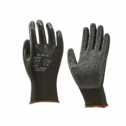 Nylon Handschoen Zwart Latex Coating Mt9
