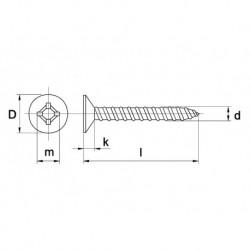 Plaatschroef Din7982C Pk 6,3X22 Ph RVS A2