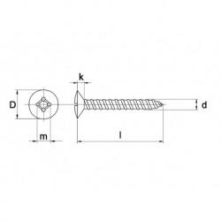 Plaatschroef Din7983C Lk 5,5X22 Ph RVS A2