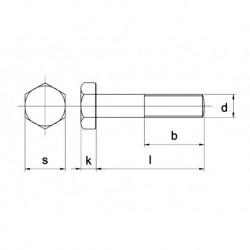 Zeskant Bout D931 8.8 Geg.M30X300