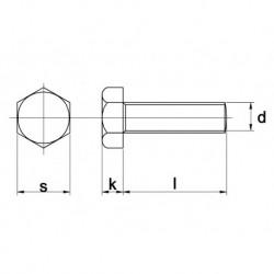 Tapbout Din933 8.8 M20X55mm Thvz Om