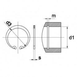 Borgring Din472 57X2mm V Boring 100 stuks