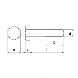 RVS Zeskantbout D931 A4 M12X55 100 stuks