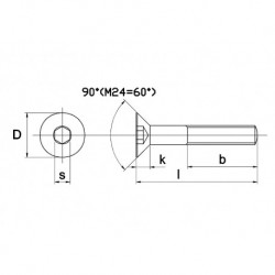 RVS Inbusbout D7991 A4 M8X80