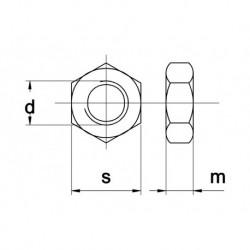 Moer Zeskant M18 RVS A4