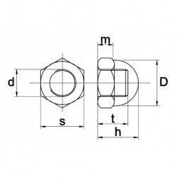 Dopmoer M5 RVS A4 - 200 stuks