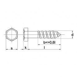 Houtdraadbout Din571 5X40mm RVS A2 200 stuks