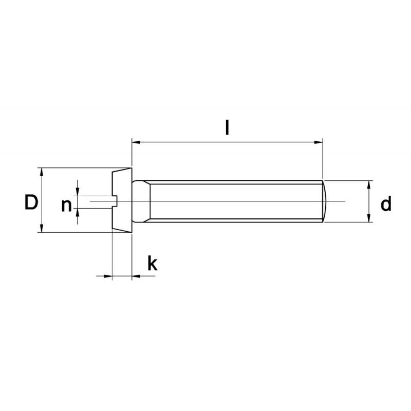 RVS Metaalschr. D84 A4 M4X16 500 stuks
