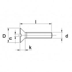 RVS Metaalschr. D963 A4 M4X40 500 stuks