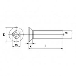 Metaalschroef Din965Ph M6X25mm Vk RVS A4 200 stuks