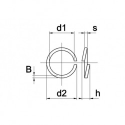 RVS Veerring D127 A4 M3 200 stuks