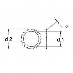 RVS Tandveerring D6798A A4 M6 1000 stuks