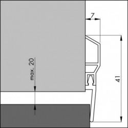 Ellen Dorpelstrip Pds-Wt 100cm Pvc Acryl