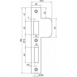 Nemef Sluitplaat Vp646/17T D+N RVS D1