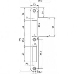 Nemef Sluitplaat Vp646/17U D+N RVS D1