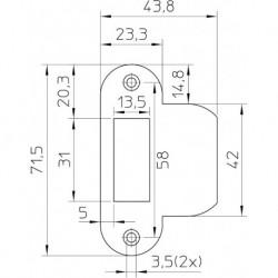 Nemef Sluitplaat P1255/5U Loop Ms