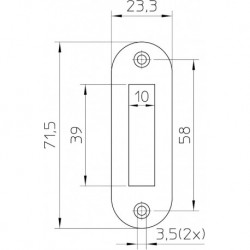 Nemef Sluitplaat P1256/12U Kast Verz