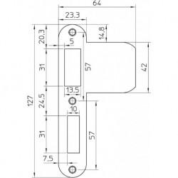 Nemef Sluitplaat Vp1276/12U D+N Verz
