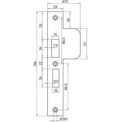 Nemef Sluitplaat Vp4119/17T D+N RVS D2