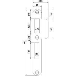 Nemef Meerpuntssluiting Sluitplaat Vpm4920/12U D+N D2