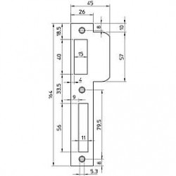 Nemef sluitplaat P8691/12 D1