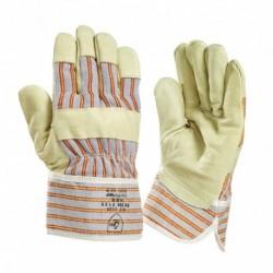 Handschoen Pigskin ch/pv/wp geel gevoerd