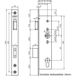 NEMEF D+N-SLOT 4169/18T-30MM PC92 SKG**