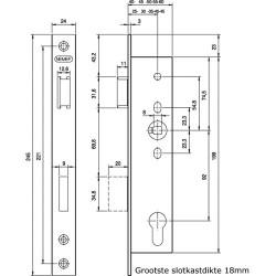 NEMEF D+N-SLOT 9601/07T-25MM PC92