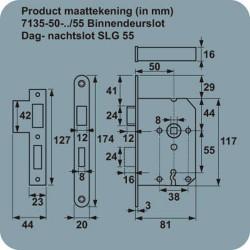 AXA D+N SLOT 7135/54U-50MM SL55 WIT GEL