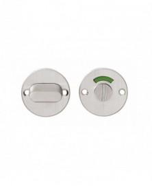 Rozet rond plat 50 mm toilet-/badkamersluiting met 5 mm stift