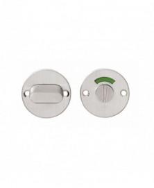 Rozet rond plat 50 mm toilet-/badkamersluiting met 8 mm stift