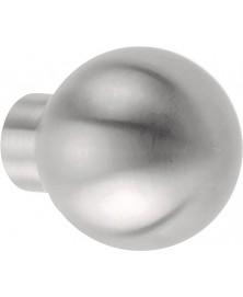 BASICS LB47V meterkastknop 40mm rond mat rvs