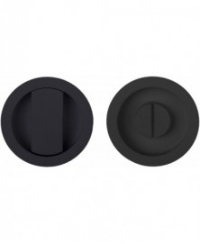 BASICS LB57S set schuifdeurkom+vrij/bezet mat zwart