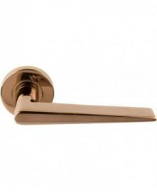 Formani BASICS LBXXI deurkruk op ronde rozet PVD koper