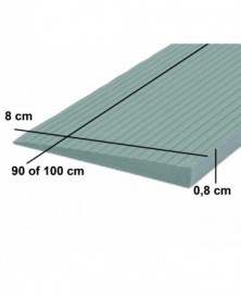 Drempelhulp 0,8 cm grijs 80...