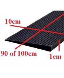 Drempelhulp 1 cm zwart 100 mm x 4000 mm