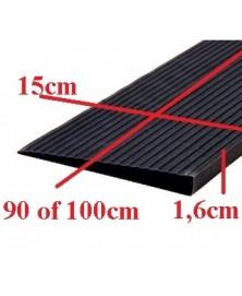 Drempelhulp 1,6 cm zwart met lijmlaag 150 mm x 900 mm