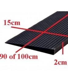 Drempelhulp 2 cm zwart 150 mm x 4000 mm