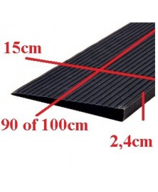 Drempelhulp 2,4 cm zwart met lijmlaag 150 mm x 900 mm