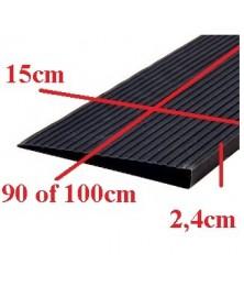 Drempelhulp 2,4 cm zwart met lijmlaag 150 mm x 1000 mm