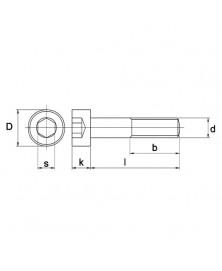 Inbusbout Din912 M3X25mm 100 stuks