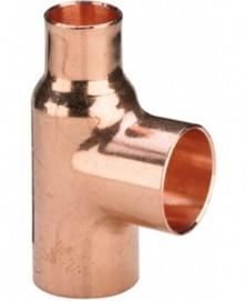 T-stuk capillair 22x22x22mm roodkoper