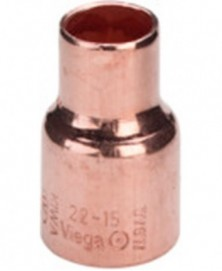 Verloopsok capillair 15x12mm roodkoper