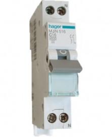 Hager install autom mjn516 230v 1p+n 16a