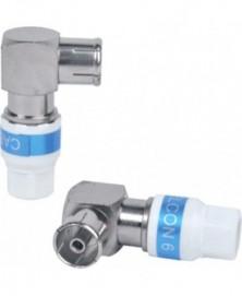 Coax steker 9mm haaks bus (hol) metaal