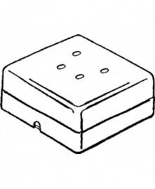 Telefoon wcd vierkant opb 4-polig wit