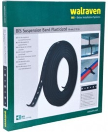 Walraven band geperf pvc 19mm rol 10m